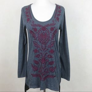Johnny Was Embroidered Tunic Size S